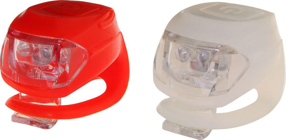 Набор силиконовых фонарей STG JY-267-2B, 2 белых и 2 красных диода, 3 функцииMW-1462-01-SR серебристыйКомпактные силиконовые фонари легко крепятся и не боятся ударов или падений. В комплекте белый и красный диодные фонари с 3 функциями мигания.