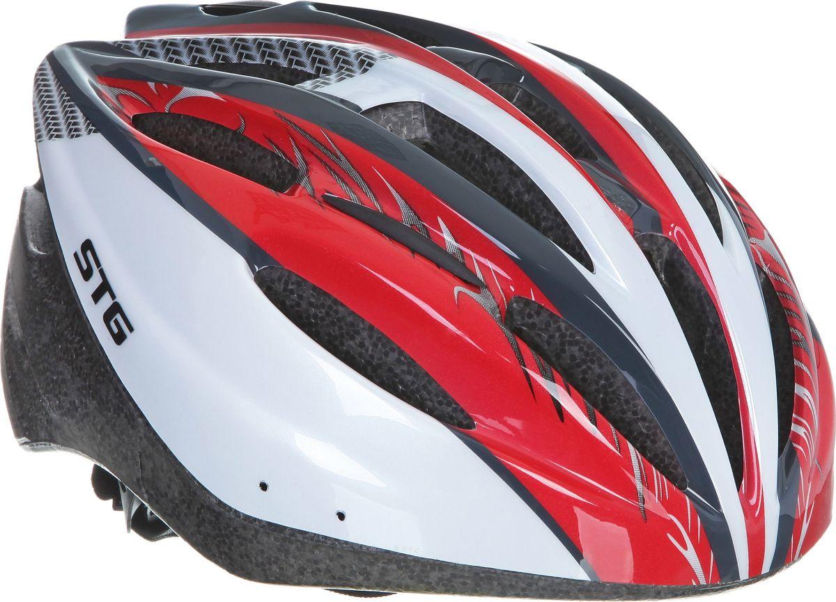 Шлем STG MB20-1. Размер MWRA523700Велошлем STG - необходимый аксессуар каждого велосипедиста, предназначенный для защиты головы во время катания. Специальные отверстия обеспечивают оптимальную вентиляцию головы. Легкая и технологичная конструкция Out-mold гарантирует безопасность райдеров, катающихся, как в городе, так и по пересеченной местности. М 55-58см, L 58-61см