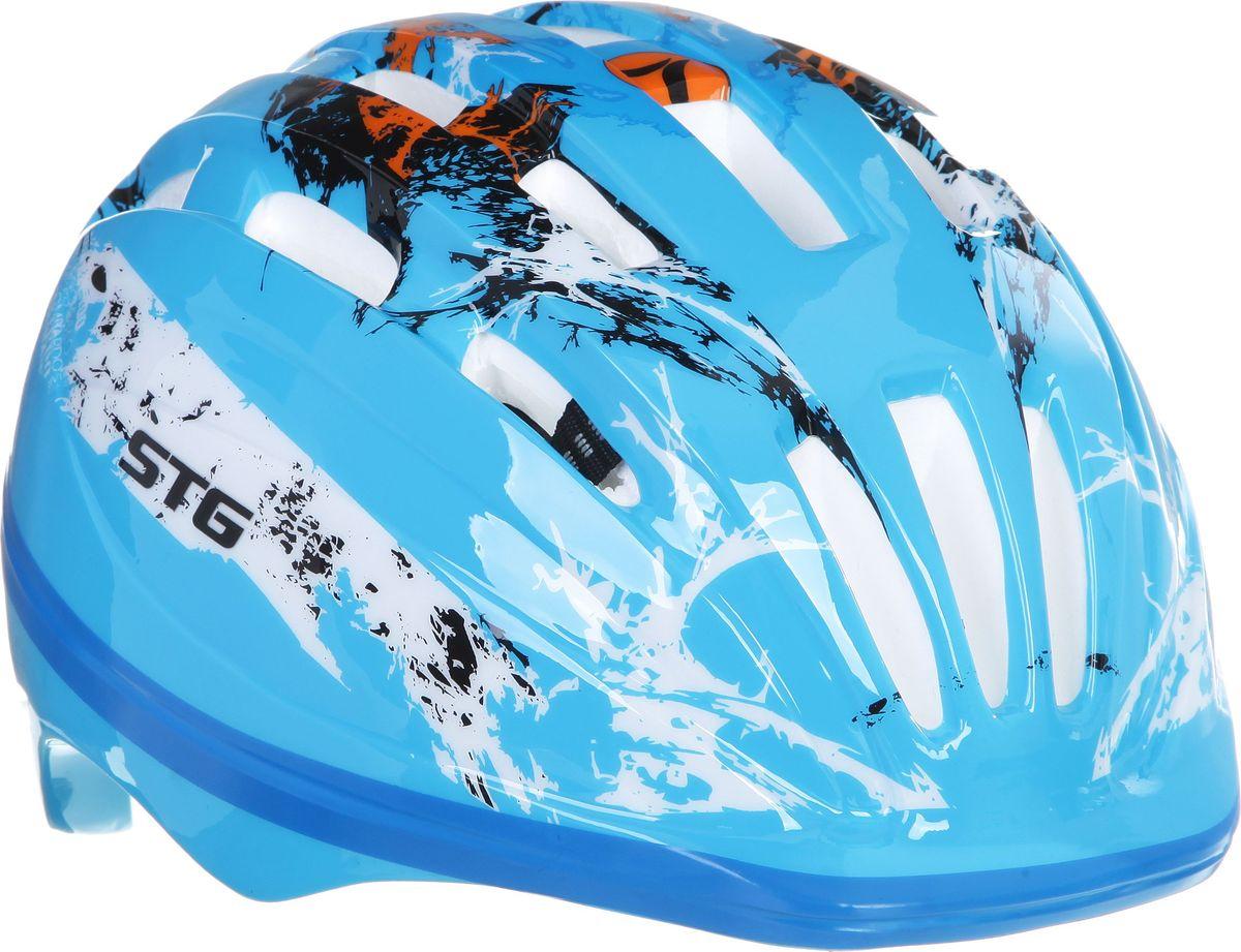 Шлем STG HB6-2-A. Размер XSJSO-10304Детский велошлем обеспечит безопасность ребенка во время катания. Шлем является обязательным атрибутом, особенно для маленьких любителей покататься на велосипеде, беговеле или самокате, которые только познают азы самостоятельного катания. Данный велошлем разработан специально для мальчиков и выполнен в приятной цветовой гамме и обязательно понравится юным велогонщикам. Комфортная подкладка и застежка детского шлема позволят удобно его одеть, а 28 вентиляционных отверстий обеспечат необходимую вентиляцию во время катания. Размер - обхват головы S 48-52см, M 52-56см