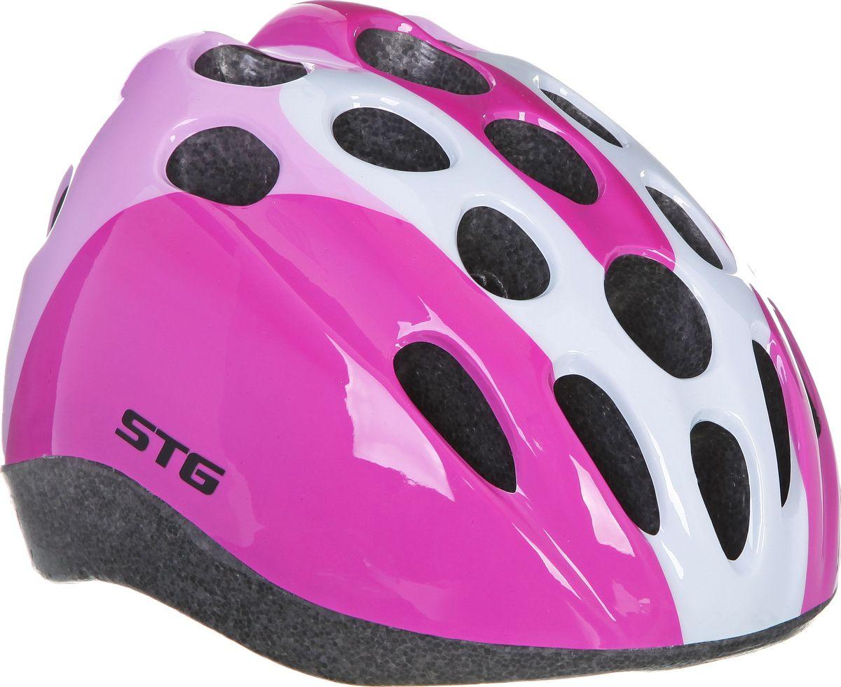Шлем STG HB5-3-A. Размер MMW-1462-01-SR серебристыйДетский велошлем обеспечит безопасность ребенка во время катания. Шлем является обязательным атрибутом, особенно для маленьких любителей покататься на велосипеде, беговеле или самокате, которые только познают азы самостоятельного катания. Данный велошлем разработан специально для мальчиков и выполнен в приятной цветовой гамме и обязательно понравится юным велогонщикам. Размер - обхват головы S 48-52см, M 52-56см
