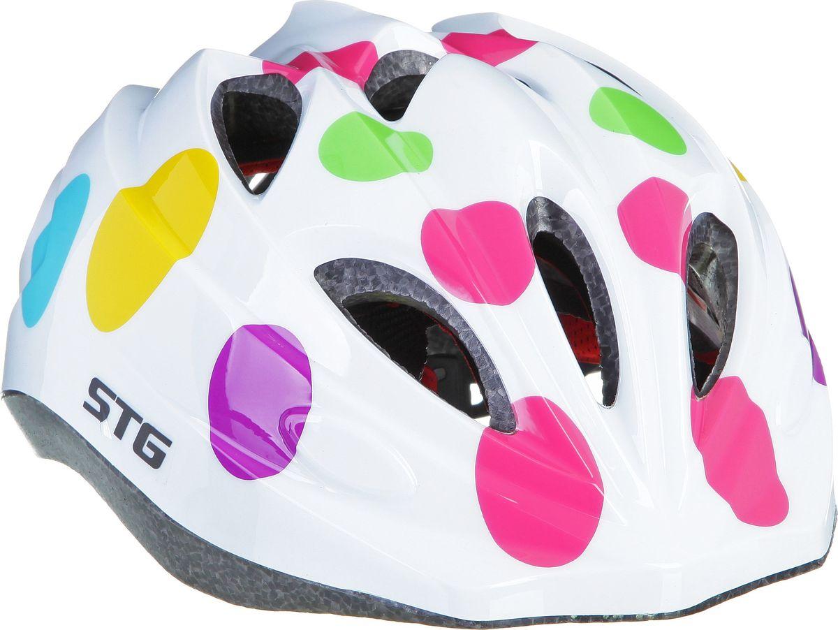 Шлем STG HX-Y01AWRA523700Детский велошлем обеспечит безопасность ребенка во время катания. Шлем является обязательным атрибутом, особенно для маленьких любителей покататься на велосипеде, беговеле или самокате, которые только познают азы самостоятельного катания.