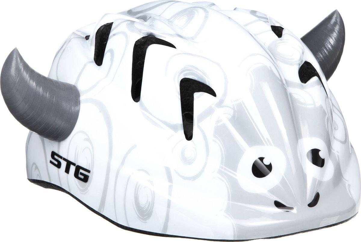Шлем STG SHEEP. Размер XS (44-48 см)MHDR2G/AДетский велошлем обеспечит безопасность ребенка во время катания. Шлем является обязательным атрибутом, особенно для маленьких любителей покататься на велосипеде, беговеле или самокате, которые только познают азы самостоятельного катания. Размер XS (44-48 см)