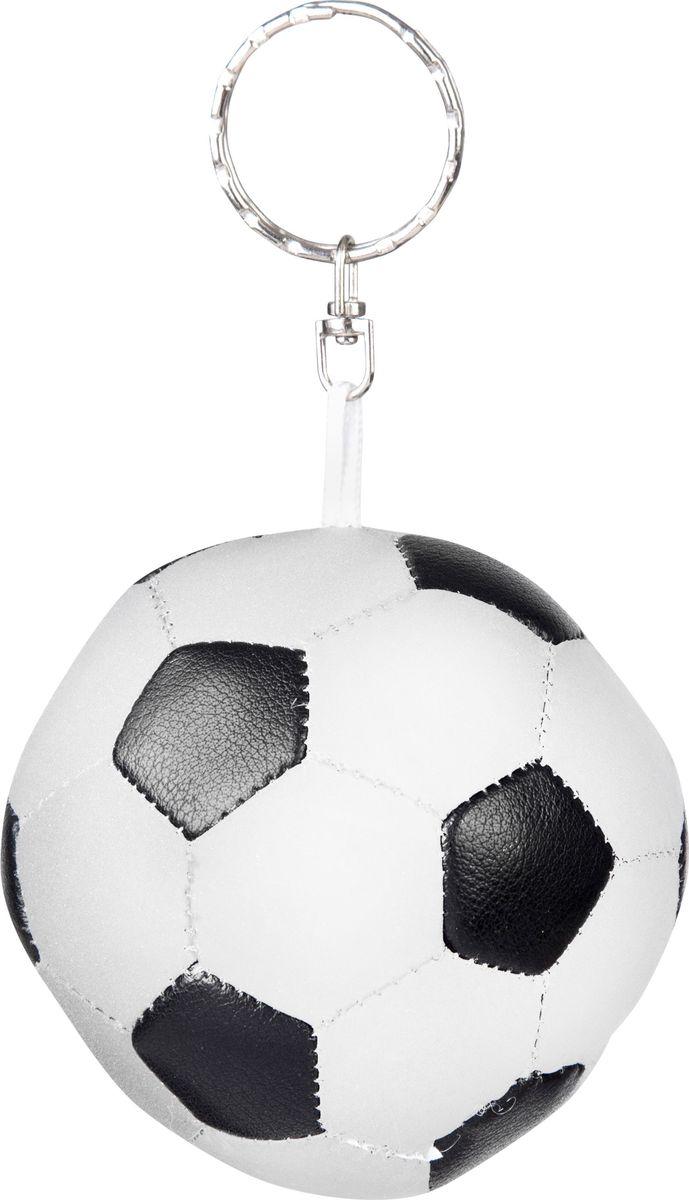 Светоотражатель STG Футбольный мяч, игрушка. RT-007MW-1462-01-SR серебристыйСветоотражающий брелок в виде футбольного мяча для рюкзака или ключей.