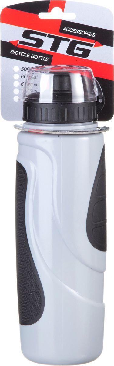 Велофляга STG DC-BT-55, с защитной крышкой, цвет: серый, черный, 700 млMW-1462-01-SR серебристыйФляга STG это незаменимая вещь в походах и на велопрогулках на большие расстояния. Выполнена из ударопрочного пластика стойкого к высоким температурам. Оптимальный объем фляги 700 мл обеспечивает необходимое количество жидкости для подпитки велоспортсмена.