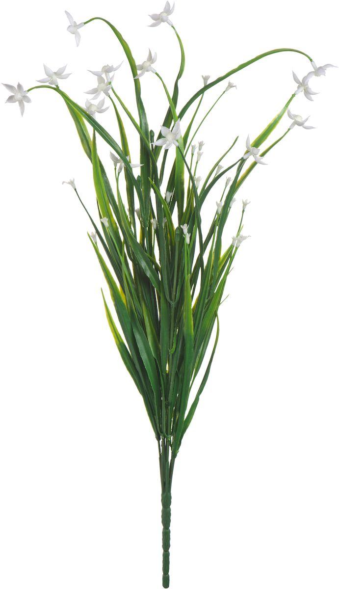 Цветы искусственные Engard Птицемлечник, цвет: белый, 45 см19201Искусственные цветы Engard - это популярное дизайнерское решение для создания природного колорита и индивидуальности в интерьере. Декоративный птицемлечник выполнен из высококачественного материала передающего неповторимую естественность и является достойной альтернативой натуральным цветам. Необычные размеры и броские формы соцветий отлично подходят для создания эксклюзивных композиций. Не требует постоянного ухода. Цвет: фиолетовый/белый/желтый.Размер: 45 см.