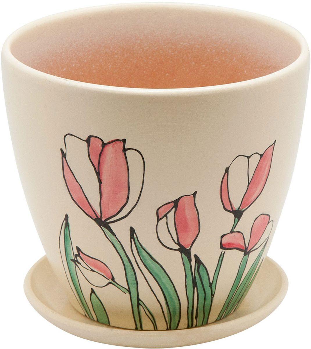 Горшок цветочный Engard, с поддоном, 2,4 л. BH-12-219201Керамический горшок - это идеальное решение для выращивания комнатных растений и создания изысканности в интерьере. Керамический горшок сделан из высококачественной глины в классической форме и оригинальном дизайне.