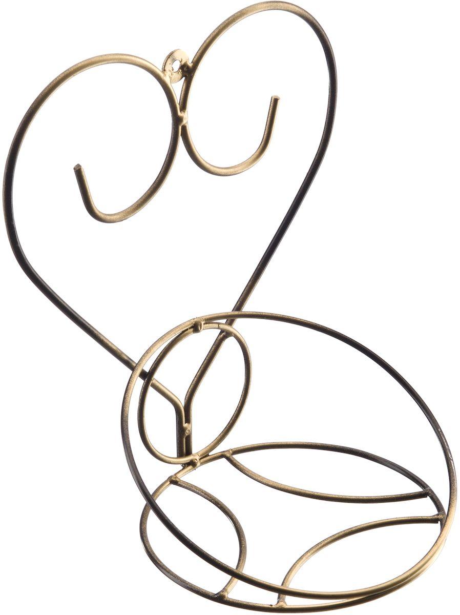Подставка настенная Engard Сердце, 26 х 16 х 18 см19201Настенная подцветочница Сердце. Прекрасное украшение для вашего интерьера и универсальное решение для экономии пространства. Конструкция подцветочницы выполнена из металла.