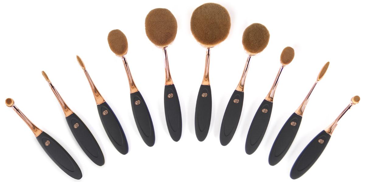 Rio Профессиональный набор кистей для нанесения макияжа Brch, микрофибра, 10 предметов1301210Набор кистей Rio микрофибра 10 предметов - предназначен для профессионального макияжа. С набором Rio , у вас есть все, что нужно для макияжа супермодели. Вам будет доступна любая техника мейкапа. В набор входят кисти для нанесения: основы, тональных средств, теней для век, пудры, румян, помады и т.д. Все кисти выполнены из специальных долговечных, мягких синтетических, гипоаллергенных волокон последнего поколения, которые легко моются в теплой воде. С набором Rio BRCH у вас всегда будет изысканный макияж и вы будете выглядеть просто сногсшибательно!