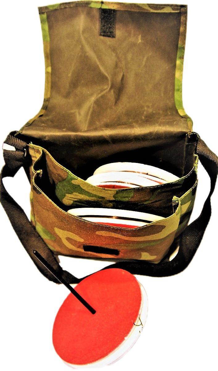 Кружок рыболовный Аляска, оснащенный, 5 штH009Рыболовный кружок - готовая к использованию снасть. Используется при ловле хищника на живца. Так же, снасть называют летней жерлицей. 5 кружков упакованы в транспортировочную сумку. Характеристики: Диаметр кружка - 150ммТолщина кружка - 20ммЛеска: 15мДиаметр: 0,35-0,45Поводок: 1х7 в оплетке 25смГруз скользящий: 10гКрючок - двойник размер #2