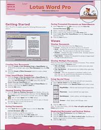 Quick Source. Lotus Word Pro Millennium Edition 9.0 Quick Source Guide