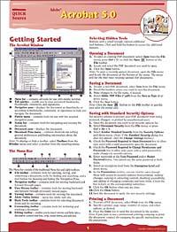 Quick Source, Quick Source. Adobe Acrobat 5.0 Quick Source Guide