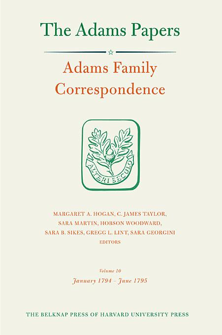Adams Family Adams Adams Family Correspondence, Volume 10 – January 1794–June 1795 berry adams пиджак