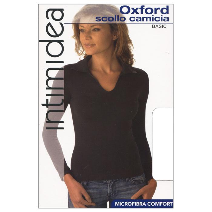 Футболка с длинным рукавом женская Intimidea Oxford, цвет: белый (Bianco). Размер S/MIN-T-Shirt Oxford BiancoЖенская футболка Oxford с длинным рукавом и с воротником-поло выполнена из микрофибры, она очень мягкая на ощупь, не раздражает даже самую нежную и чувствительную кожу.Футболка очень удобна в использовании, ее можно носить как с брюками, так и с юбкой. Отличный вариант для повседневного использования!