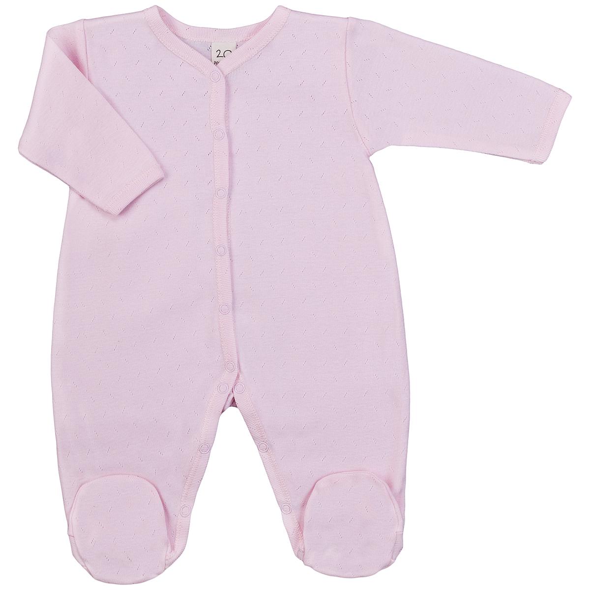 Комбинезон домашний0-12Детский комбинезон Lucky Child - очень удобный и практичный вид одежды для малышей. Комбинезон выполнен из натурального хлопка, благодаря чему он необычайно мягкий и приятный на ощупь, не раздражают нежную кожу ребенка и хорошо вентилируются, а эластичные швы приятны телу малыша и не препятствуют его движениям. Комбинезон с длинными рукавами и закрытыми ножками имеет застежки-кнопки от горловины до щиколоток, которые помогают легко переодеть младенца или сменить подгузник. Модель выполнена из ткани с ажурным узором. С детским комбинезоном Lucky Child спинка и ножки вашего малыша всегда будут в тепле, он идеален для использования днем и незаменим ночью. Комбинезон полностью соответствует особенностям жизни младенца в ранний период, не стесняя и не ограничивая его в движениях!