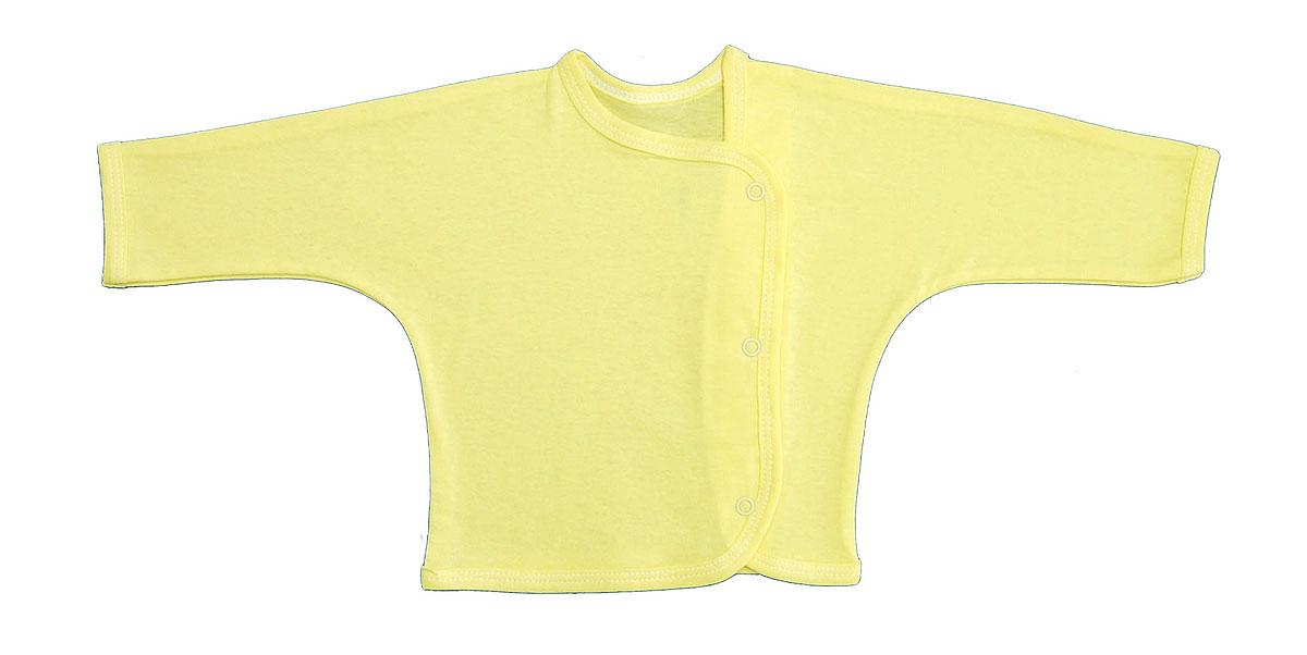 Кофточка Трон-плюс, цвет: желтый. 5153. Размер 56, 1 месяц5153Кофточка с длинными рукавами Трон-плюс послужит идеальным дополнением к гардеробу младенца. Кофточка выполнена из кулирного полотна - натурального хлопка, благодаря чему она необычайно мягкая и легкая, не раздражает нежную кожу ребенка и хорошо вентилируется, а эластичные швы приятны телу малыша и не препятствуют его движениям. Кофточка застегивается спереди по всей длине при помощи кнопок, позволяют без труда переодеть ребенка.