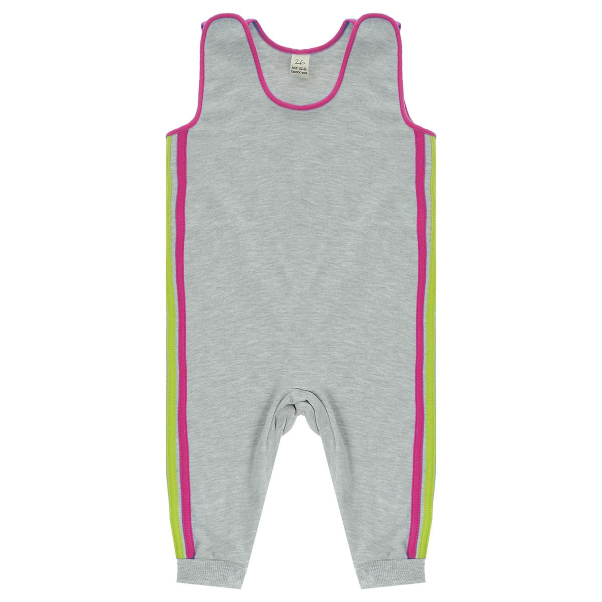 Ползунки1-15Ползунки с грудкой Lucky Child - очень удобный и практичный вид одежды для малышей. Они отлично сочетаются с футболками и кофточками. Ползунки выполнены из интерлока - натурального хлопка, благодаря чему они необычайно мягкие и приятные на ощупь, не раздражают нежную кожу ребенка и хорошо вентилируются, а эластичные швы приятны телу малыша и не препятствуют его движениям. Ползунки без ножек, застегивающиеся сверху на кнопки, идеально подойдут вашему малышу, обеспечивая ему наибольший комфорт, подходят для ношения с подгузником и без него. Кнопки на ластовице помогают легко и без труда поменять подгузник в течение дня. Отделкой служат лампасы контрастного цвета по боковому шву. Ползунки с грудкой полностью соответствуют особенностям жизни малыша в ранний период, не стесняя и не ограничивая его в движениях!