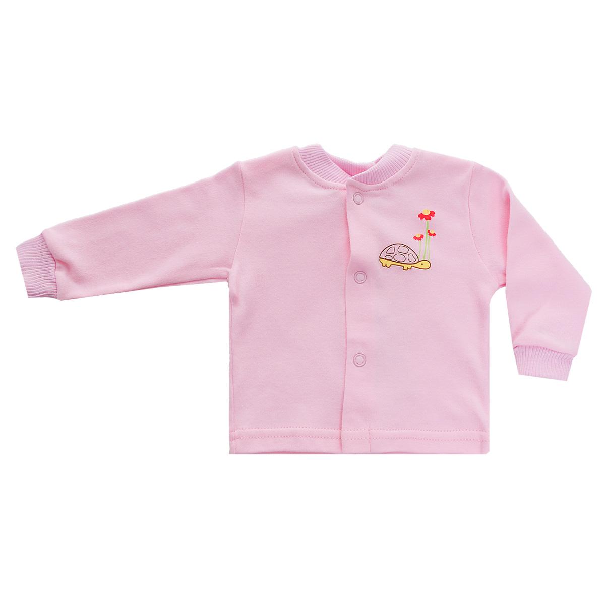 Распашонка37-261Кофточка для новорожденного Клякса послужит идеальным дополнением к гардеробу вашего ребенка, обеспечивая ему наибольший комфорт. Изготовленная из натурального хлопка, она необычайно мягкая и легкая, не раздражает нежную кожу ребенка и хорошо вентилируется, а эластичные швы приятны телу младенца и не препятствуют его движениям. Модель с длинными рукавами имеет круглый вырез горловины, дополненный мягкой трикотажной резинкой. Удобные застежки-кнопки по всей длине помогают легко переодеть ребенка. На рукавах предусмотрены трикотажные манжеты, не пережимающие ручки. Изделие оформлено оригинальным принтом с изображением забавных животных. Кофточка полностью соответствует особенностям жизни младенца в ранний период, не стесняя и не ограничивая его в движениях. В ней ваш ребенок всегда будет в центре внимания.