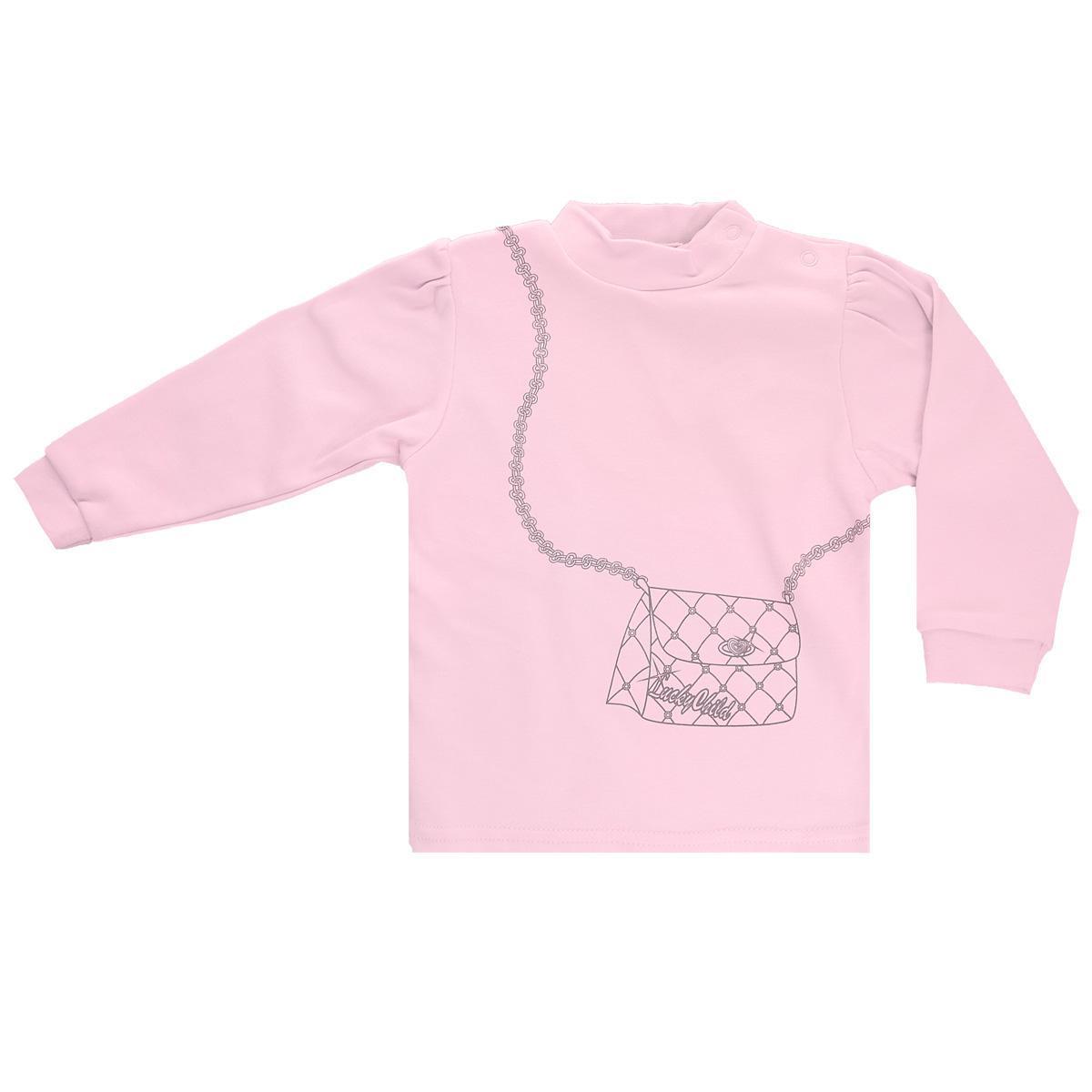 Распашонка2-23Кофточка для девочки Lucky Child с длинными рукавами-фонариками послужит идеальным дополнением к гардеробу вашей малышки, обеспечивая ей наибольший комфорт. Изготовленная из интерлока - натурального хлопка, она необычайно мягкая и легкая, не раздражает нежную кожу ребенка и хорошо вентилируется, а эластичные швы приятны телу малышки и не препятствуют ее движениям. Удобные застежки-кнопки по плечу помогают легко переодеть младенца. Рукава понизу дополнены широкими трикотажными манжетами, не стягивающими запястья. Спереди модель оформлена оригинальным принтом, имитирующим сумочку на цепочке. Кофточка полностью соответствует особенностям жизни ребенка в ранний период, не стесняя и не ограничивая его в движениях. В ней ваша малышка всегда будет в центре внимания.