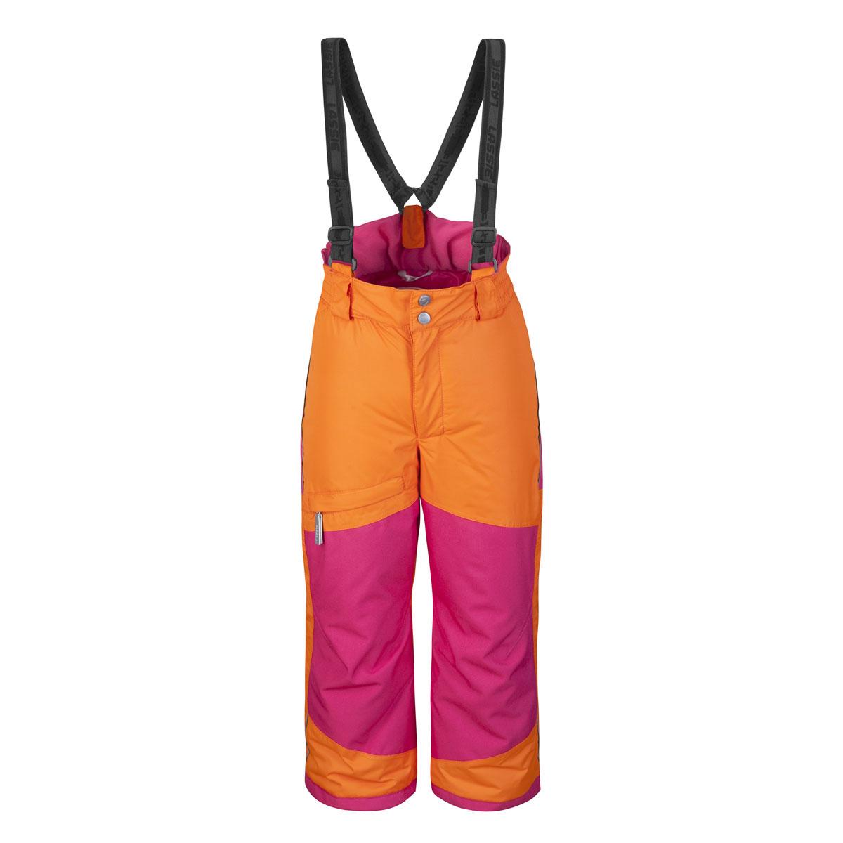 Брюки722510_2810Теплые детские брюки Lassie идеально подойдут для ребенка в холодное время года. Брюки изготовлены из водоотталкивающей и ветрозащитной мембранной ткани с утеплителем из синтепона. Материал отличается высокой устойчивостью к трению, благодаря специальной обработке полиуретаном поверхность изделия отталкивает грязь и воду, что облегчает поддержание аккуратного вида одежды, дышащее покрытие с изнаночной части не раздражает даже самую нежную и чувствительную кожу ребенка, обеспечивая ему наибольший комфорт. Брюки застегиваются на две кнопки и ширинку на застежке-молнии и имеют съемные эластичные наплечные лямки, регулируемые по длине. На талии предусмотрена широкая эластичная резинка, которая позволяет надежно заправить в них водолазку или свитер. Имеются шлевки для ремня. Спереди модель дополнена прорезным кармашком на застежке-молнии. Снизу брючин предусмотрены внутренние манжеты с прорезиненными полосками, препятствующие попадание мусора в обувь и не дающие брюкам ползти...