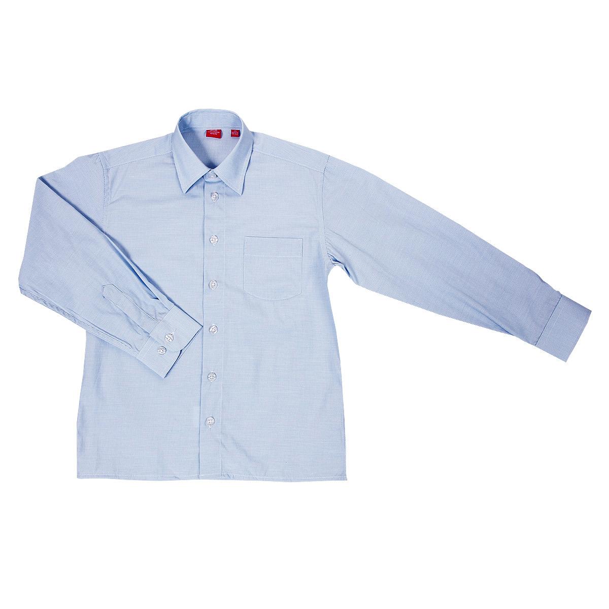 РубашкаCL051205Стильная рубашка для мальчика Imperator идеально подойдет для школы. Изготовленная из хлопка с добавлением полиэстера, она необычайно мягкая, легкая и приятная на ощупь, не сковывает движения малыша и позволяет коже дышать, не раздражает даже самую нежную и чувствительную кожу ребенка, обеспечивая ему наибольший комфорт. Рубашка классического кроя с длинными рукавами и отложным воротничком, застегивается на пуговицы, на груди кармашек. Рукава имеют широкие манжеты, также застегивающиеся на пуговицу. Такая рубашка - незаменимая вещь для школьной формы, отлично сочетается с брюками, жилетами и пиджаками.