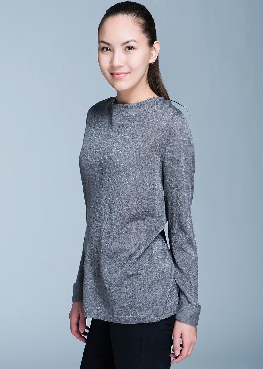 Пуловер женский Broadway, цвет: серый. 10150880 82F-cloud grey/lurex. Размер M (44/46)10150880Стильный полупрозрачный женский пуловер, изготовленный из вискозы с люрексом, мягкий и приятный на ощупь, не сковывает движения, обеспечивая наибольший комфорт. Комфортный пуловер с круглым вырезом горловины имеет длинные рукава. Открытая спинка - изюминка этой модели.Этот пуловер - практичная вещь, которая, несомненно, впишется в ваш гардероб, в нем вы будете чувствовать себя уютно и комфортно.