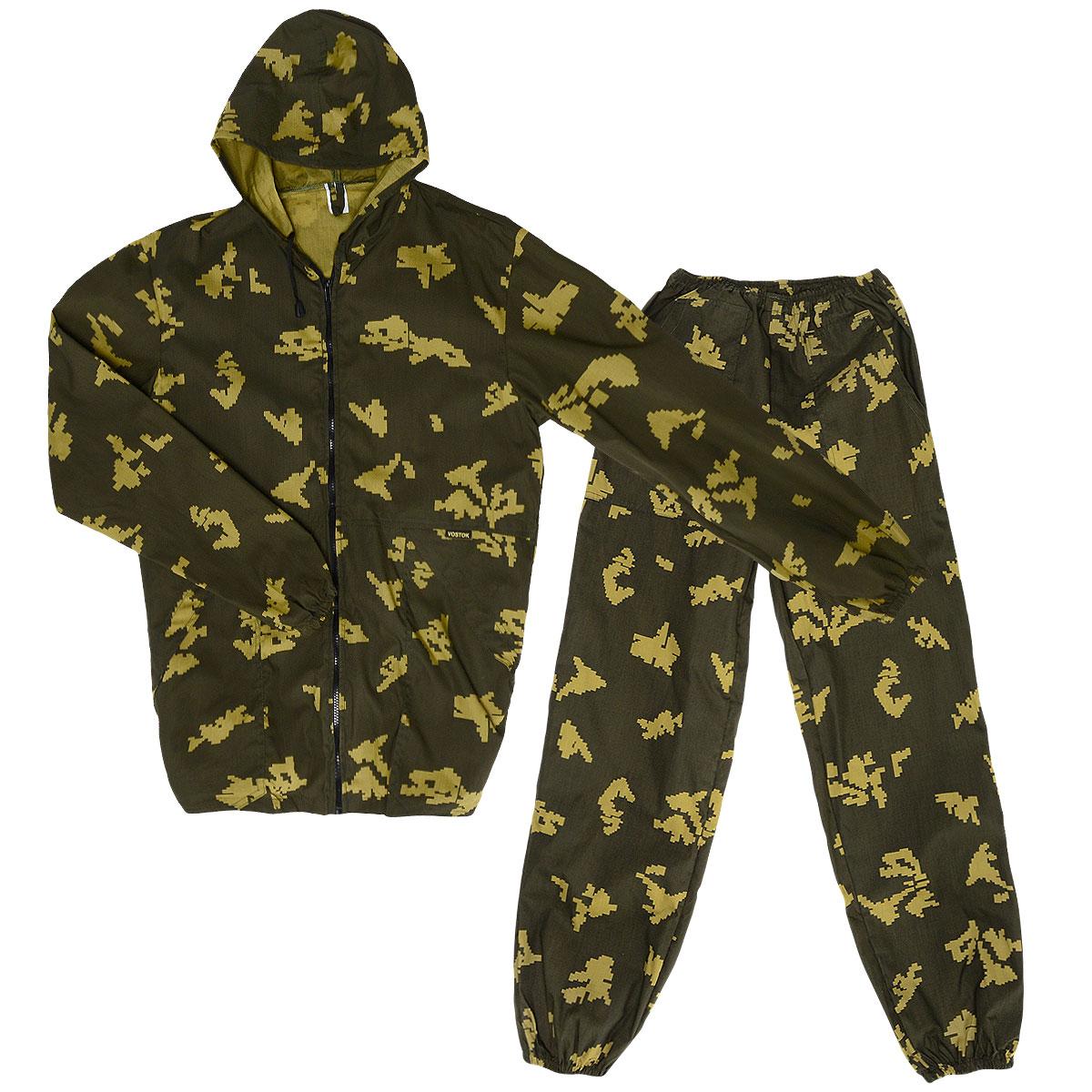 Костюм охотничийVSN-PКостюм маскировочный мужской Norfin Снайпер, состоящий из куртки и брюк, - отличный костюм для любого отдыха в жаркую погоду, в том числе активного (от +12 до +25°С). Прочный материал благодаря хлопку дышит, а полиэстер дает прочность. Куртка свободного кроя с капюшоном застегивается по всей длине на пластиковую застежку- молнию. Капюшон не отстегивается и дополнен скрытым шнурком. Низ рукавов и низ изделия дополнены внутренней эластичной резинкой. Спереди модель дополнена двумя накладными карманами под планкой. На левом рукаве также предусмотрен накладной карман с клапаном на липучке. Брюки свободного кроя на талии дополнены эластичным поясом со скрытым шнурком. Низ брючин дополнен внутренней резинкой. Спереди предусмотрены два вместительных накладных кармана. Костюм выполнен в маскировочной расцветке «Пограничник». УВАЖАЕМЫЕ КЛИЕНТЫ! Обращаем ваше внимание, что костюм поставляется в двух оттенках цвета хаки. Оба варианта оттенка...