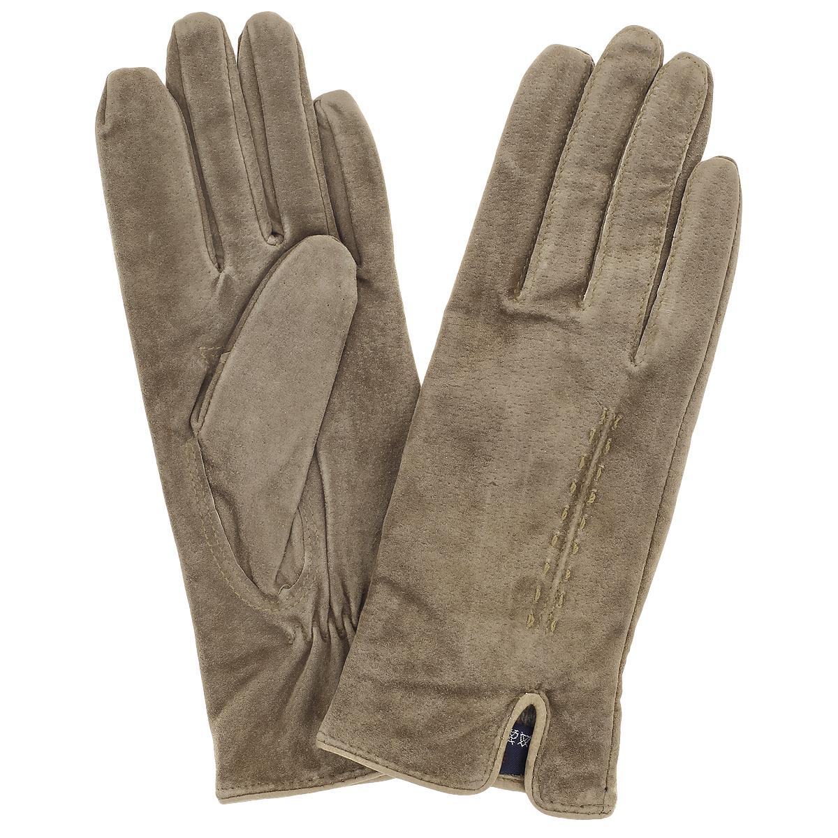Перчатки женские Dali Exclusive, цвет: светло-коричневый. S13_ALINA/MARON//11. Размер 6S13_ALINA/MARON//11Стильные перчатки Dali Exclusive с шерстяной подкладкой выполнены из мягкой и приятной на ощупь натуральной замши. Лицевая сторона оформлена декоративными стежками и дополнена небольшим разрезом. Такие перчатки подчеркнут ваш стиль и неповторимость и придадут всему образу нотки женственности и элегантности.