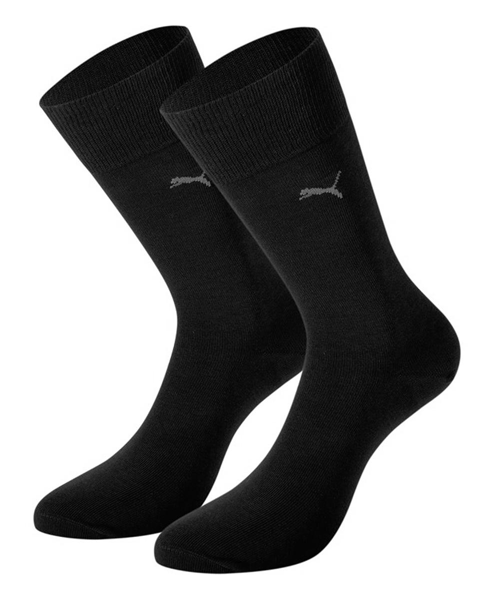 Комплект носков89040206Классические мужские носки Puma Classic с удлиненным паголенком изготовлены из хлопка с добавлением полиамида и эластана. Комфортная широкая резинка не сдавливает и комфортно облегает ногу. В комплект входят две пары носков.