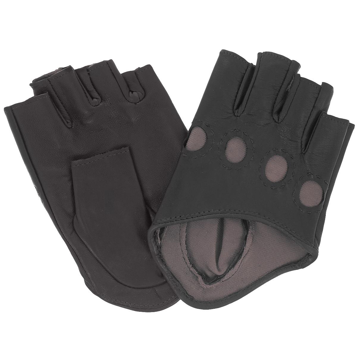 ПерчаткиK81-IA0,5/BL.BRСтильные автомобильные перчатки Michel Katana выполнены из мягкой и приятной на ощупь натуральной кожи ягненка с шелковой подкладкой. Модель с открытыми пальцами. Перчатки оформлены круглыми прорезями на косточках. Такие перчатки подчеркнут ваш стиль и неповторимость.