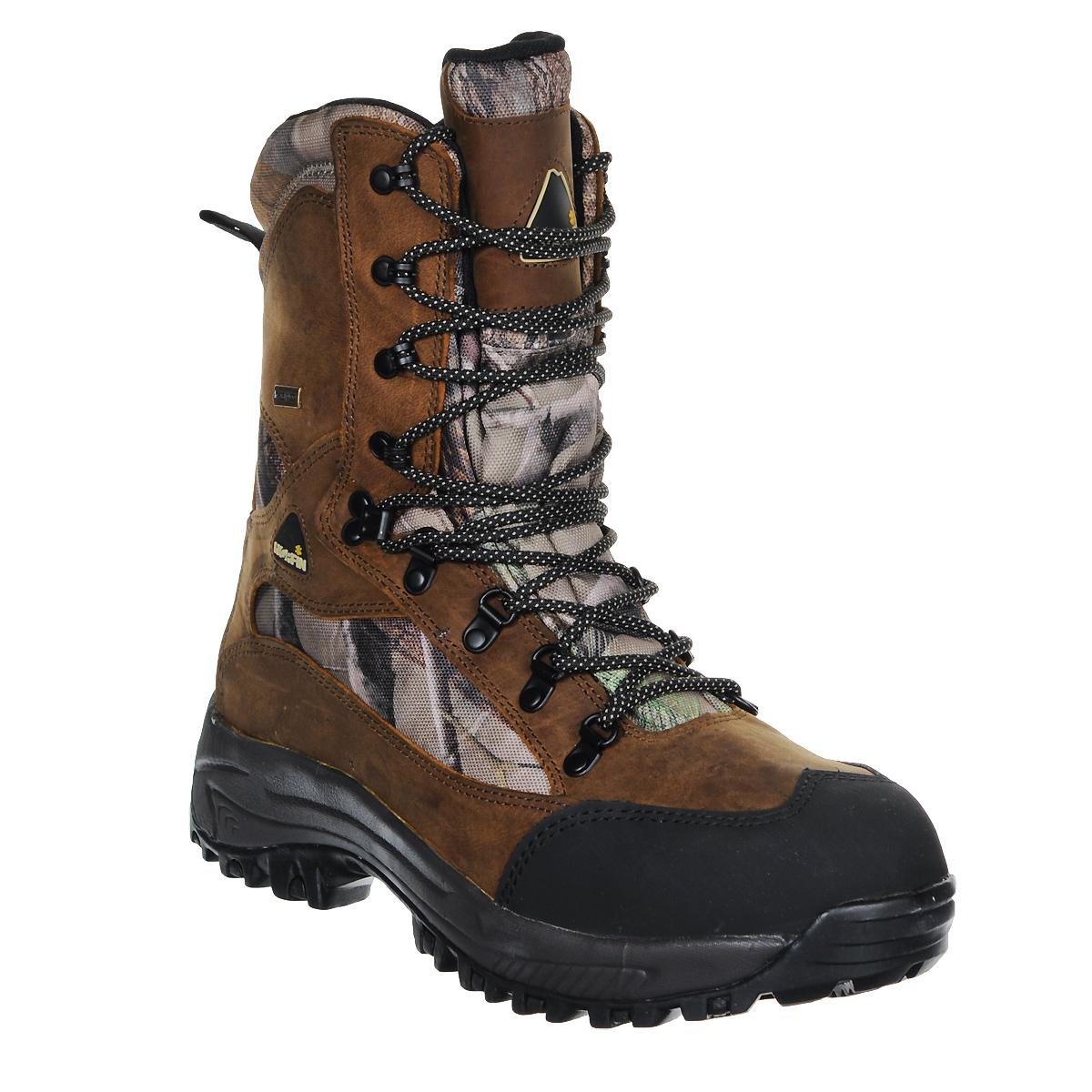 Ботинки13991Теплые и удобные мужские ботинки Norfin Trek идеально подойдут как для рыбалки, охоты и активного отдыха, так для повседневного использования. Верх ботинок выполнен из легкого водонепроницаемого дышащего мембранного материала. Подкладка изготовлена из мягкого текстильного материала, который сохранит ваши ноги в тепле. Легкий утеплитель Thinsulate и высокая подошва ботинок не дадут ногам замерзнуть ранней весной или осенью. Шнуровка надежно фиксирует модель на ноге. Оформлено изделие цветными вставками и небольшими прорезиненными вставками сбоку и на язычке с названием бренда. Средняя часть подошвы сделана из легкого материала EVA, а нижняя часть - из резины с глубоким протектором, который обеспечит хорошее сцепление на любой поверхности. В таких ботинках вы будете чувствовать себя комфортно и уютно.