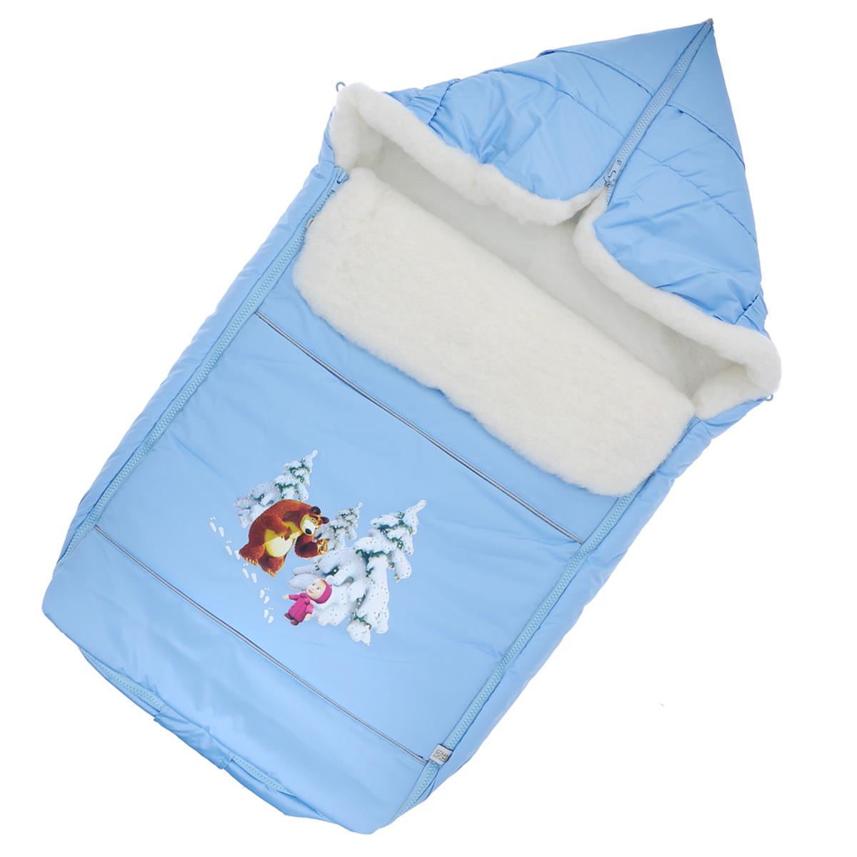 Конверт для новорожденного975/1Теплый конверт для новорожденного Сонный гномик Маша и Медведь идеально подойдет для ребенка в холодное время года. Конверт изготовлен из водоотталкивающей и ветрозащитной ткани Dewspo (100% полиэстер) на подкладке из шерсти с добавлением полиэстера. В качестве утеплителя используется шелтер (100% полиэстер). Шелтер (Shelter) - утеплитель нового поколения с тонкими волокнами. Его более мягкие ячейки лучше удерживают воздух, эффективнее сохраняя тепло. Более частые связи между волокнами делают утеплитель прочным и позволяют сохранить его свойства даже после многократных стирок. Утеплитель шелтер максимально защищает от холода и не стесняет движений. Верхняя часть конверта может использоваться в качестве капюшона в ветреную или холодную погоду и надеваться на спинку коляски благодаря эластичным ремешкам и вставке. С помощью застежки-молнии верх принимает вид треугольного капюшона. Пластиковая застежка-молния по бокам и нижнему краю изделия помогает с легкостью доставать...