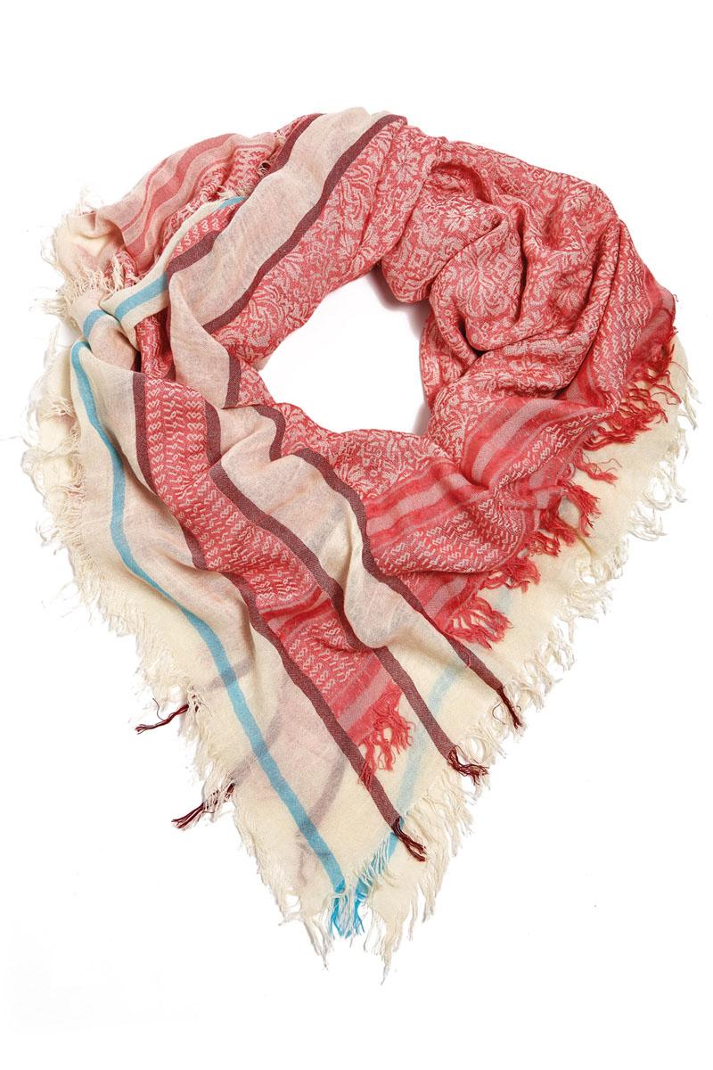 Платок женский Moltini, цвет: розовый, бежевый, голубой. 21002-04S. Размер 130 см х 130 см21002-04SСтильный платок Moltini станет великолепным завершением любого наряда. Платок изготовлен из вискозы с добавлением шелка. Он украшен бахромой и оформлен красочным этническим принтом и модными полосками. Классическая квадратная форма позволяет носить его на шее, украшать прическу или декорировать сумочку. Мягкий и шелковистый платок поможет вам создать оригинальный женственный образ.Такой платок превосходно дополнит любой наряд и подчеркнет ваш неповторимый вкус и элегантность.