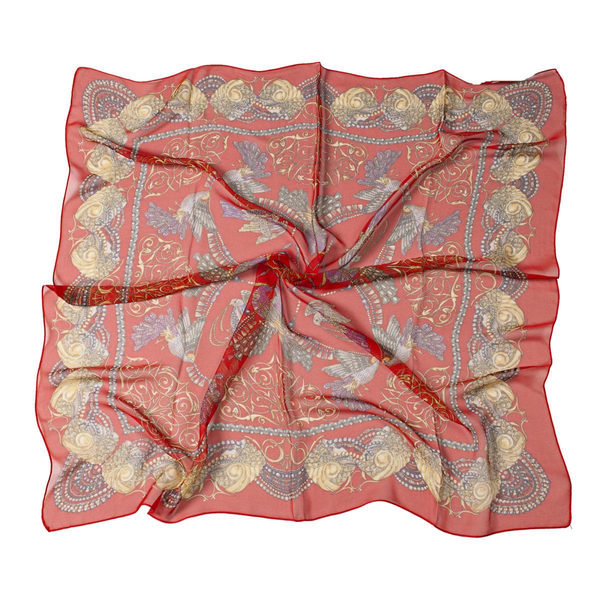 Платок23/0120/030Легкий и воздушный платок Модные истории станет великолепным завершением любого наряда. Платок изготовлен из высококачественного полиэстера с добавлением шелка. Он оформлен красочным этническим принтом с изображением птиц. Классическая квадратная форма позволяет носить его на шее, украшать прическу или декорировать сумочку. Мягкий и шелковистый платок поможет вам создать оригинальный женственный образ. Такой платок превосходно дополнит любой наряд и подчеркнет ваш неповторимый вкус и элегантность.
