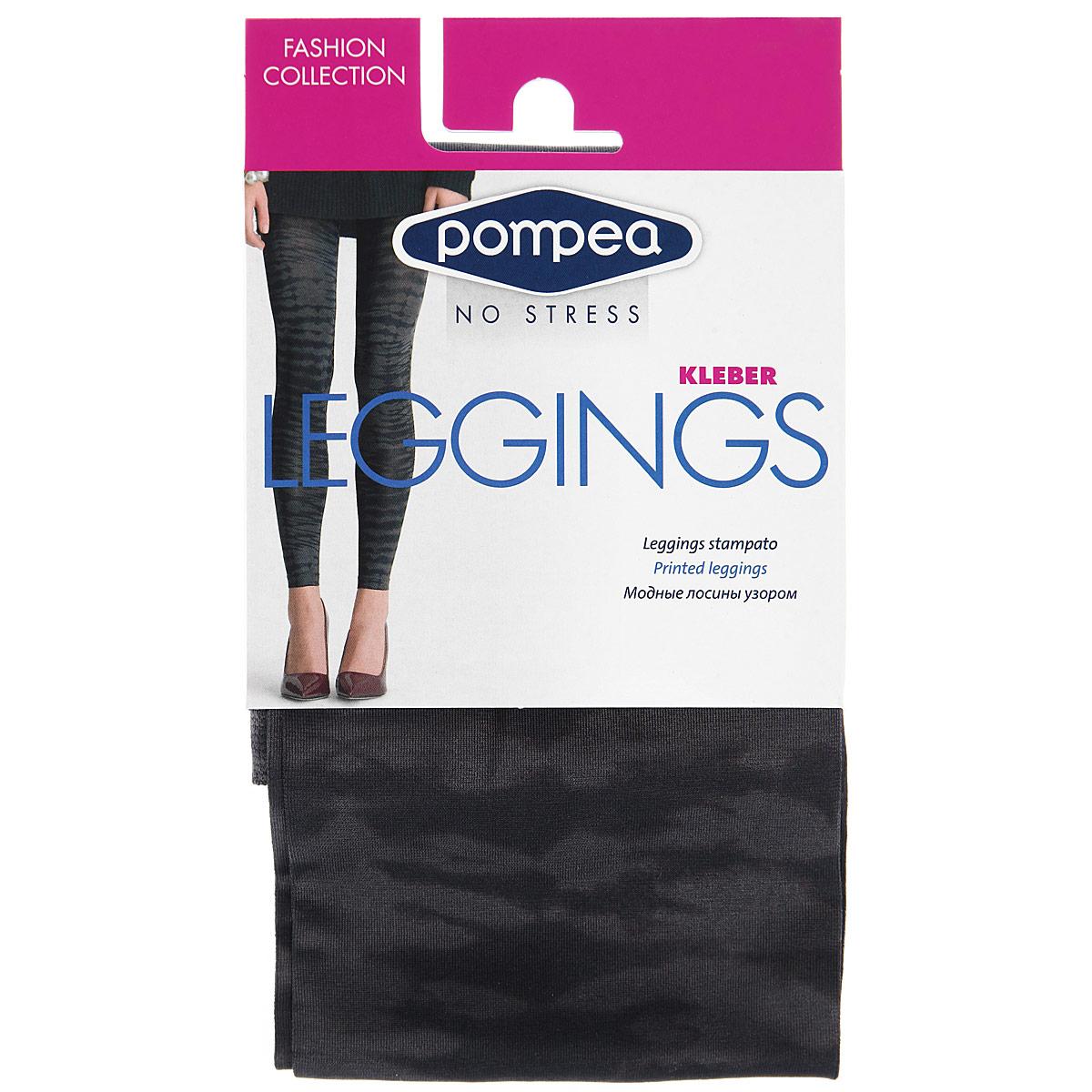 Леггинсы90768958 AnimalМодные женские леггинсы Pompea Kleber Fashion изготовлены из эластичного материала. Леггинсы на талии имеют широкую уплотненную мягкую резинку. Модель обтягивающего силуэта выгодно подчеркнет достоинства вашей фигуры. Такие леггинсы вы можете носить с туникой, длинной футболкой или майкой. Они послужат отличным дополнением к вашему гардеробу, в них вы будете чувствовать себя комфортно и уютно.