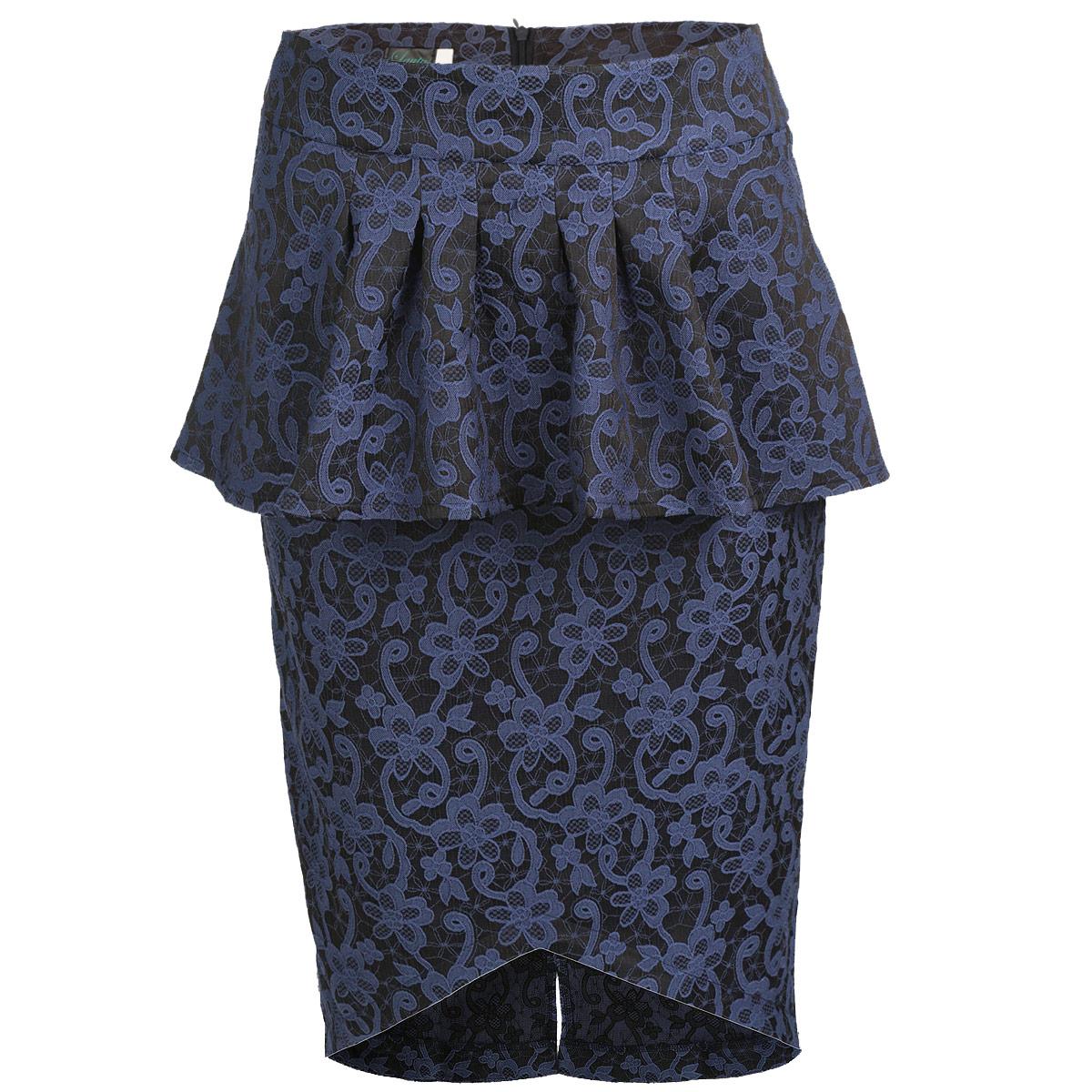 Юбкаю0159Стильная юбка Lautus изготовлена из плотного эластичного материала с фактурным цветочным узором. Юбка длины миди подчеркнет все достоинства вашей фигуры. Модель на широком пришивном поясе оформлена элегантной баской и имеет асимметричный подол. Сзади юбка застегивается на потайную молнию и дополнена небольшим разрезом. Эта модная юбка - отличный вариант как на каждый день, так и на торжественное мероприятие. Она займет достойное место в вашем гардеробе и подчеркнет ваш безупречный вкус.