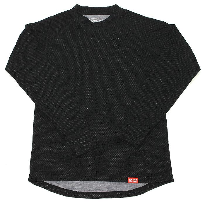 Термобелье рубашка NOVA TOUR Двойная шерсть, теплая, цвет: черный. 54079. Размер M (48-50)54079Термобелье Двойная шерсть - рубашка, предназначенная для низкой и средней активности при низких температурах. Рубашка хорошо впитывает влагу, прекрасно пропускает воздух - дышит, сохраняет тепло, мягко облегает фигуру и не стесняет движений. Ткань применяется с объемной двухслойной структурой плетения. Термобелье лучше всего подходит для зимней охоты и рыбалки. Оно сочетает в себе свойства отвода влаги термобелья и тепло шерстяной одежды. Рекомендуется использовать при малой активности в холодную и очень холодную погоду. Термобелье - нижнее белье, задача которого сохранение тепла и максимально быстрый отвод влаги (пота) с поверхности тела.