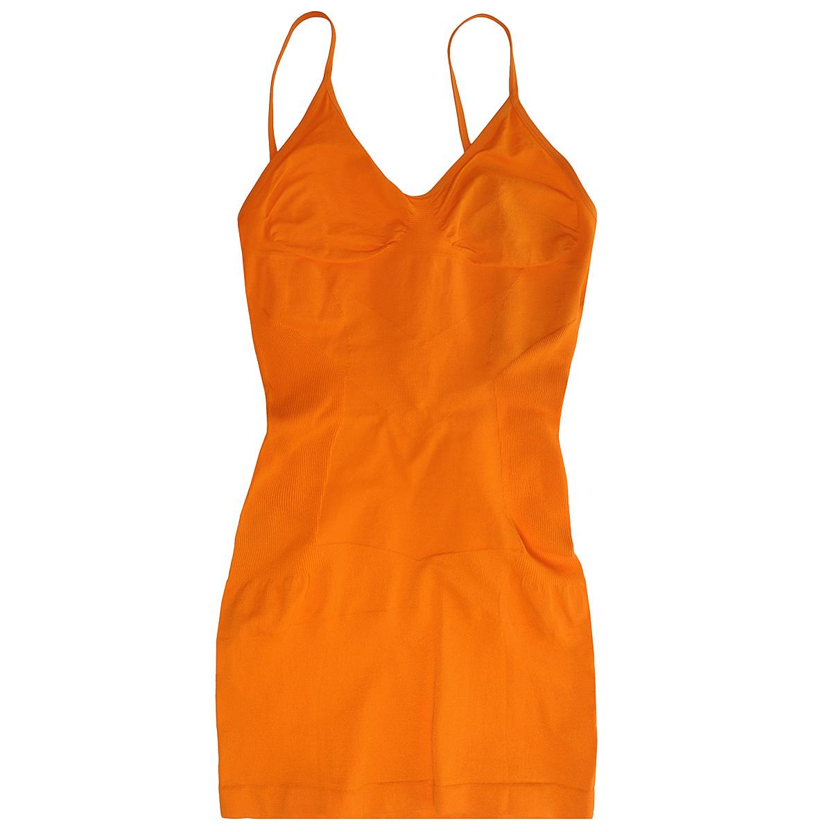 Майка женская Magic BodyFashion Slimming Cami, бесшовная, цвет: оранжевый. 40CM. Размер S (44)40CMКорректирующая бесшовная майка Magic BodyFashion Slimming Cami очень удобная и комфортная в носке. Модель на тонких регулируемых бретелях, зона лифа не содержит каркасов. Крой майки необычен, благодаря чему ее невозможно заметить под любой одеждой, она практически не ощущается на коже, позволяет чувствовать себя комфортно и легко. Майка позволяет приобрести выразительные линии своего тела за считанные секунды (можно скрыть все лишнее). Белье Magic BodyFashion создано для тех, кто стремится к безупречности своего стиля. Именно благодаря ему огромное количество женщин чувствуют себя поистине соблазнительными, привлекательными и не на шутку уверенными в себе.