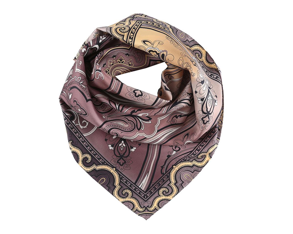 ПлатокCX1516-33-5Изумительный шелковый женский платок Fabretti станет изысканным аксессуаром, который подчеркнет ваши индивидуальность и очарование. Модель изготовлена из 100% шелка и оформлена этническим узором. Дизайн полотна придает модели удивительно динамичное и яркое настроение. Края модели по периметру обработаны вручную. Платок можно повязать на шею, украсить им причёску или повесить на сумочку. Платок Fabretti станет вашим верным спутником, а окружающие обязательно будут обращать свое восторженное внимание на вас.