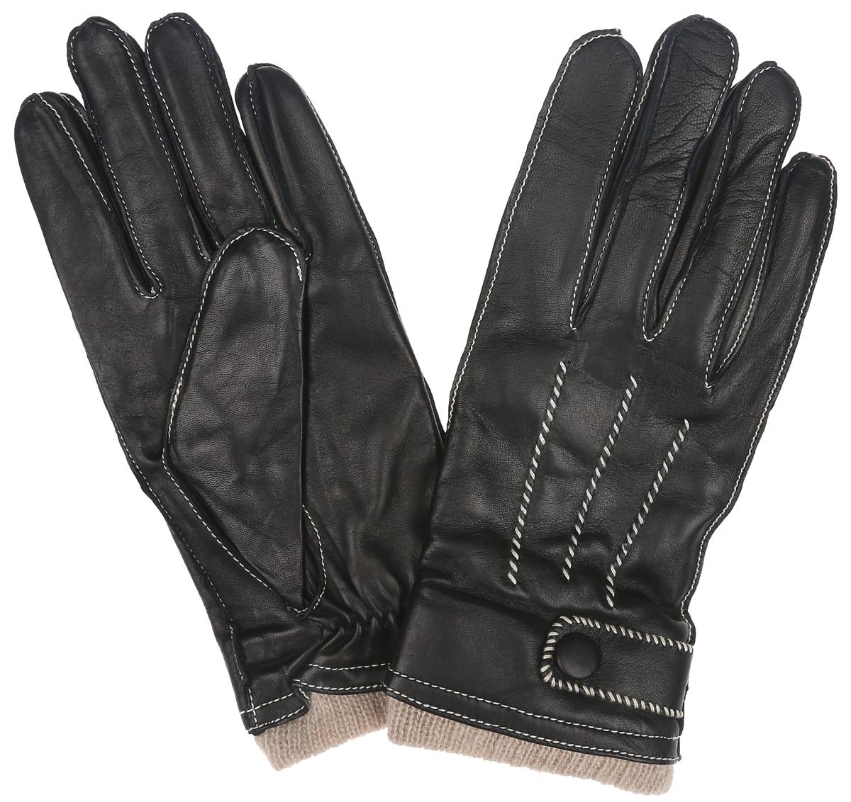 Перчатки мужские Eleganzza, цвет: черный. OS01750. Размер 9,5OS01750Потрясающие мужские перчатки Eleganzza выполнены из чрезвычайно мягкой иприятной на ощупь кожи, а их подкладка - из натуральнойшерсти с добавлением кашемира. Модель оформлена наружными швами с контрастной прострочкой. Лицевая сторона дополнена декоративными швами три луча и декоративным ремешком на застежке-кнопке.В настоящее время перчаткиявляются неотъемлемой принадлежностью одежды. Перчатки станутзавершающим и подчеркивающим элементом вашего стиля и неповторимости.