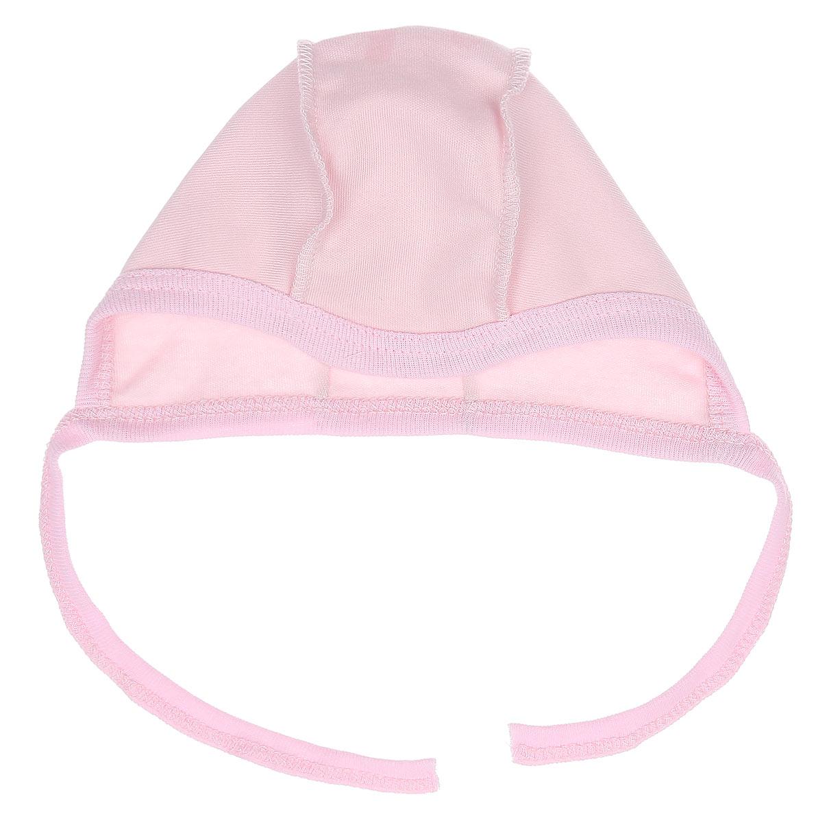 Чепчик3857Мягкий чепчик для девочки КотМарКот, изготовленный из интерлока - натурального хлопка, не раздражает нежную кожу ребенка и хорошо вентилируется, защищая еще не заросший родничок младенца. Чепчик выполнен швами наружу, что обеспечивает максимальный комфорт ребенку, а завязки позволяют регулировать обхват головы и шеи.