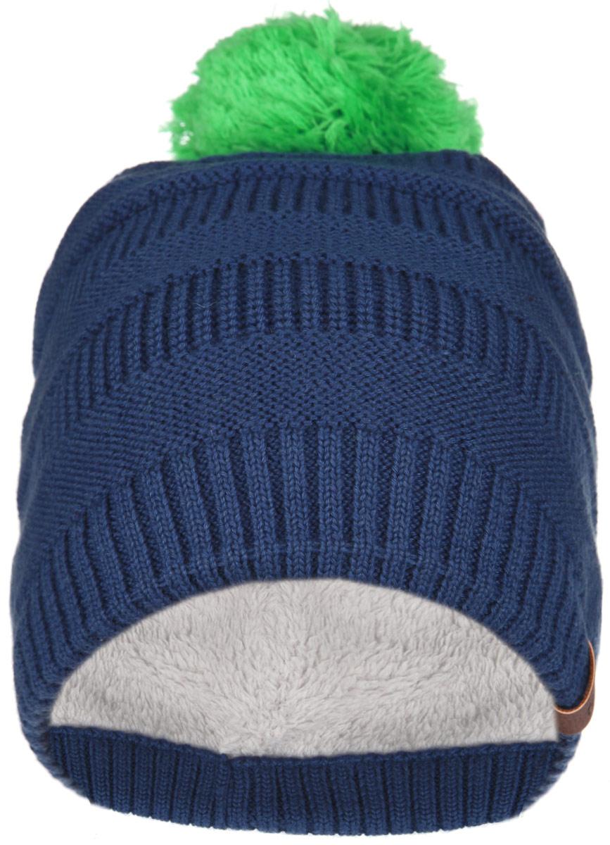 Шапка528433_4620Детская шапка-бини Reima Reki отлично подойдет для прогулок в холодное время года. Изделие, изготовленное из шерсти и акрила на очень мягкой и теплой подкладке из полиэстера, максимально сохраняет тепло. Благодаря эластичной вязке, шапка плотно прилегает к голове ребенка. Шапочка дополнена на макушке пушистым помпоном контрастного цвета. В области ушей предусмотрены ветронепроницаемые вставки, которые защищают маленькие ушки от холодного ветра. Спереди изделие декорировано нашивкой с названием бренда. Современный дизайн и расцветка делают эту шапку модным и стильным предметом детского гардероба. В ней ребенку будет тепло, уютно и комфортно. Уважаемые клиенты! Размер, доступный для заказа, является обхватом головы.