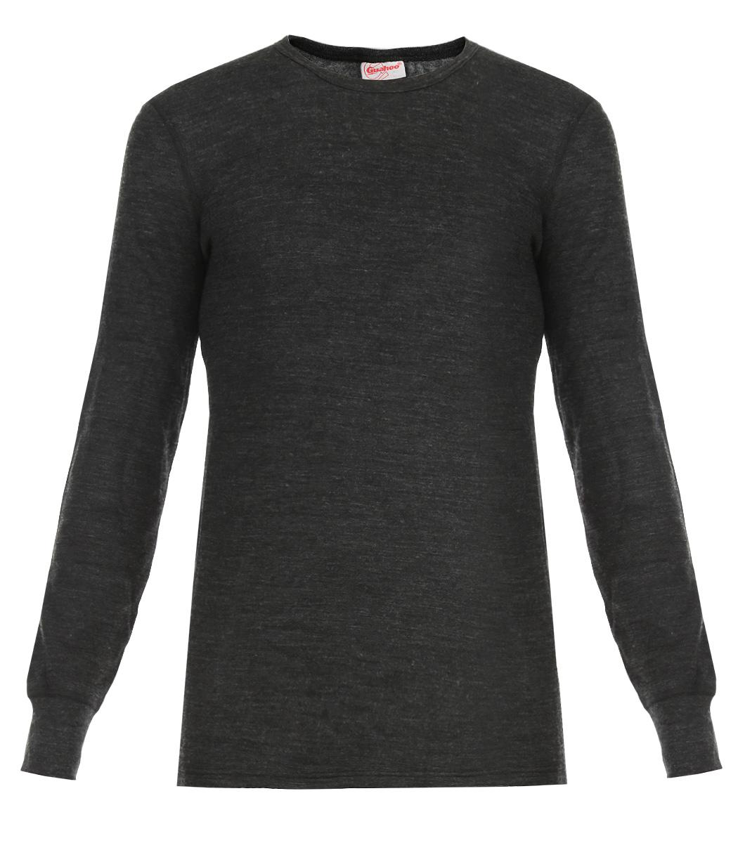 Термобелье кофта21-0460-SДвухслойная мужская футболка с длинным рукавом Guahoo Everyday подходит для повседневной носки в холодную погоду. Идеальное сочетание различных видов пряжи с добавлением натуральной шерсти во внешнем слое, а также специальное плетение обеспечивают эффективное сохранение тепла. Внутренний слой полотна - из мягкой акриловой пряжи, которая по своим теплосберегающим свойствам не уступает шерсти. Начес на внутренней стороне полотна лучше сохраняет тепло за счет дополнительной воздушной прослойки. Футболка с длинными рукавами и круглым вырезом горловины оформлена небольшой нашивкой с названием бренда. Рукава дополнены широкими трикотажными манжетами. Рекомендуемый температурный режим от -20°С до -40°С.