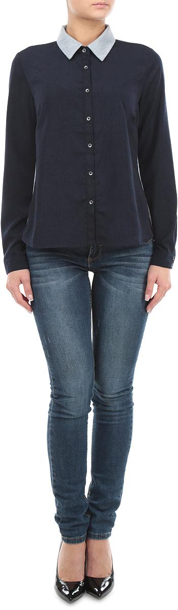 Рубашка10153992_001Стильная женская рубашка-блузка Broadway с длинными рукавами, отложным воротником и застежкой на пуговицы приятная на ощупь, не сковывает движения, обеспечивая наибольший комфорт. Изделие выполнено из двух видов ткани. Рубашка обладает высокой воздухопроницаемостью и гигроскопичностью, позволяет коже дышать, тем самым обеспечивая наибольший комфорт при носке даже самым жарким летом. Эта модная и удобная рубашка послужит замечательным дополнением к вашему гардеробу.