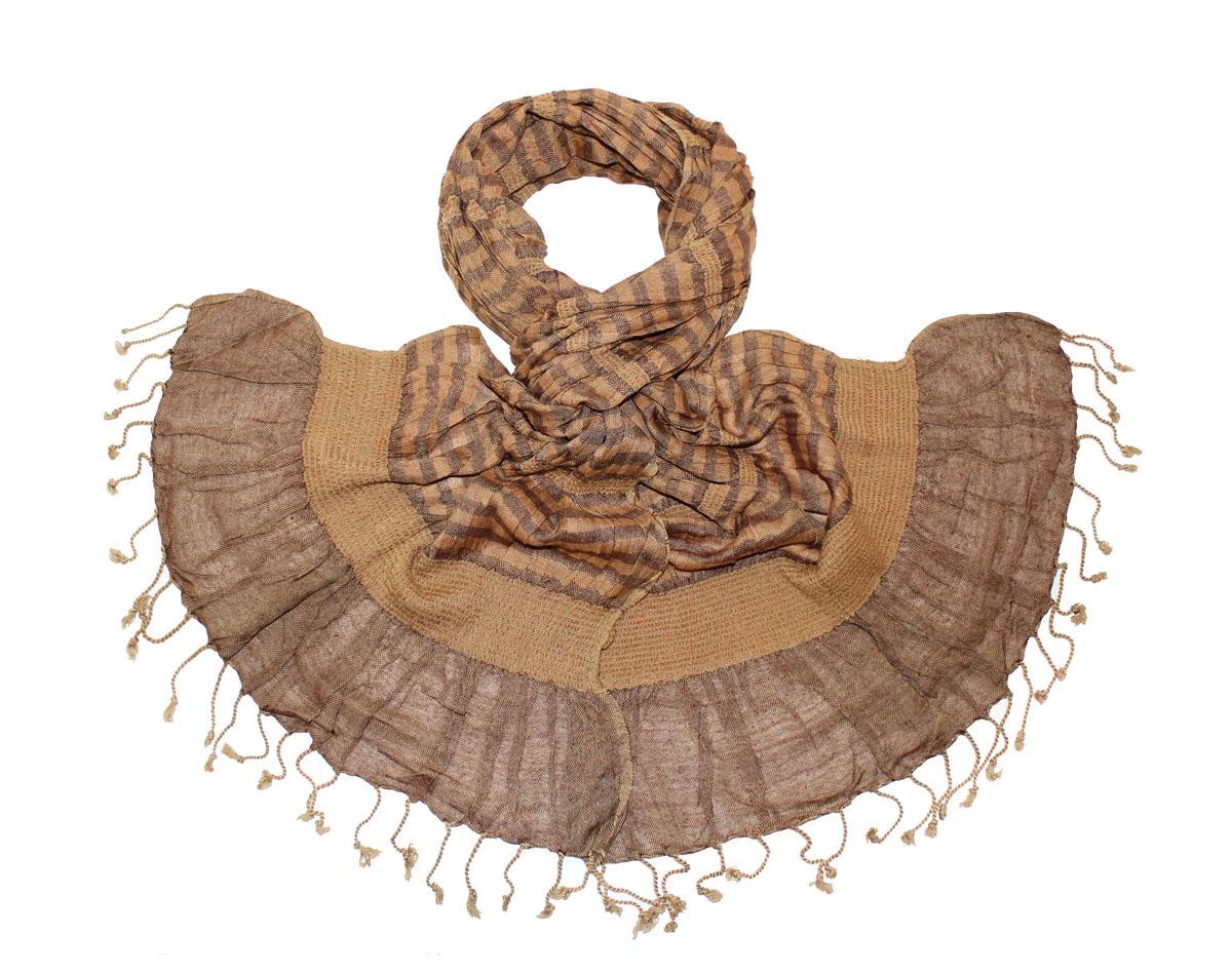Шарф173075нЖенский шарф Ethnica, изготовленный из 100% вискозы, подчеркнет вашу индивидуальность. Благодаря своему составу, он легкий, мягкий и приятный на ощупь. Изделие выполнено в оригинальном дизайне и дополнено кисточками. Такой аксессуар станет стильным дополнением к гардеробу современной женщины.
