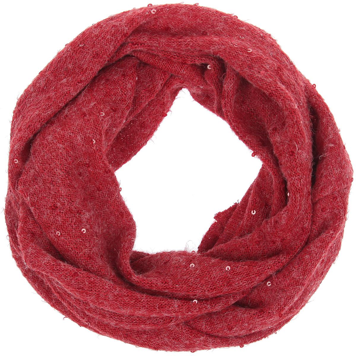 Снуд-хомутLSL33-315Уютный среднего размера шарф-снуд Labbra создан подчеркнуть ваш неординарный вкус и согреть вас в прохладное время года. Шерсть с вискозой - идеальное сочетание для снуда. Модель отличается вкраплениями паеток, невероятной легкостью и мягкостью. Красивый шарф-кольцо отлично сочетается с любой нарядной одеждой. Такой предмет гардероба не только хорошо работает на создание модного образа, но и согревает в непогоду.