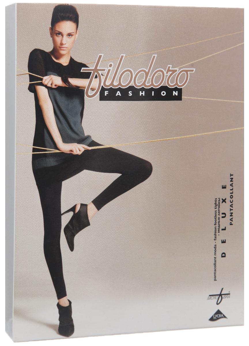 ЛеггинсыG114345Плотные женские леггинсы Filodoro Fashion Pantacollant Deluxe облегающего кроя, изготовленные из высококачественного материала (микрофибры), приятные на ощупь, не сковывают движения, обеспечивая наибольший комфорт. Широкий удобный пояс препятствует сползанию и появлению неприятных ощущений в области талии. Ластовица и швы обеспечивают комфортную носку изделия. Верхняя часть выполнена без швов. Такие леггинсы станут отличным дополнением к гардеробу модницы и помогут создать неповторимый образ.