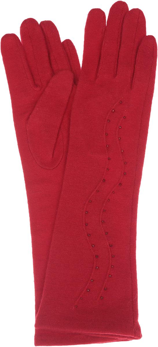 Длинные перчаткиLB-PH-75LЭлегантные удлиненные женские перчатки Labbra станут великолепным дополнением вашего образа и защитят ваши руки от холода и ветра во время прогулок. Перчатки выполнены из шерсти с добавлением акрила и ангоры, что позволяет им надежно сохранять тепло и обеспечивает удобство и комфорт при носке. Модель оформлена вышивкой мелким бисером и объемными волнообразными полосками на манжете. Такие перчатки будут оригинальным завершающим штрихом в создании современного модного образа, они подчеркнут ваш изысканный вкус и станут незаменимым и практичным аксессуаром.