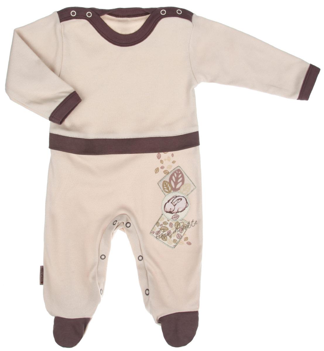 Комбинезон домашний01-0603Детский комбинезон Linea Di Sette Зайка станет идеальным дополнением к гардеробу вашего ребенка. Изделие изготовлено из высококачественного органического полотна в соответствии с принятыми стандартами. Органический хлопок - это безвредная альтернатива традиционному хлопку, ткани из него не вредят нежной коже малыша, а также их производство безопасно для окружающей среды. Органический хлопок очень мягкий, отлично пропускает воздух, обеспечивая максимальный комфорт. Комбинезон с круглым вырезом горловины, длинными рукавами и закрытыми ножками имеет застежки-кнопки по плечевому шву и на ластовице, которые помогают легко переодеть младенца или сменить подгузник. Спереди, по линии талии модель дополнена контрастной вставкой. Оформлен комбинезон принтом с изображением зайки, а также украшен вышивкой. Изделие полностью соответствует особенностям жизни ребенка в ранний период, не стесняя и не ограничивая его в движениях. В таком комбинезоне кроха будет...