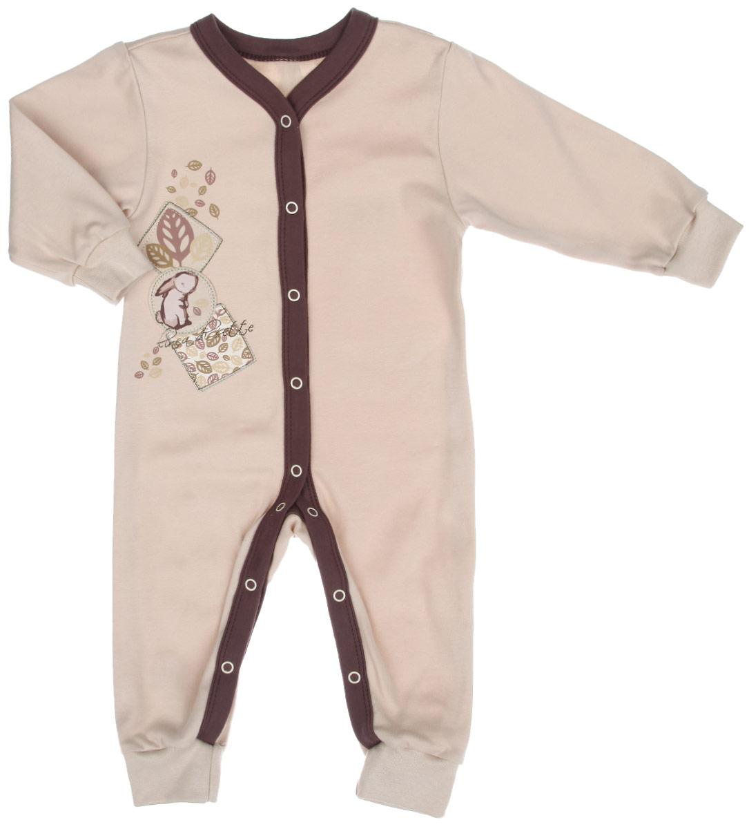 Комбинезон домашний01-0601Детский комбинезон Linea Di Sette Зайка станет идеальным дополнением к гардеробу вашего ребенка. Изделие изготовлено из высококачественного органического полотна в соответствии с принятыми стандартами. Органический хлопок - это безвредная альтернатива традиционному хлопку, ткани из него не вредят нежной коже малыша, а также их производство безопасно для окружающей среды. Органический хлопок очень мягкий, отлично пропускает воздух, обеспечивая максимальный комфорт. Комбинезон с V-образным вырезом горловины, длинными рукавами и открытыми ножками имеет застежки- кнопки от горловины до щиколоток, которые помогают легко переодеть младенца или сменить подгузник. Рукава и брючины дополнены мягкими широкими манжетами. Модель оформлена принтом, выполненным безопасными водными красками, а также украшена вышивками. Изделие полностью соответствует особенностям жизни ребенка в ранний период, не стесняя и не ограничивая его в движениях. В таком комбинезоне кроха будет...