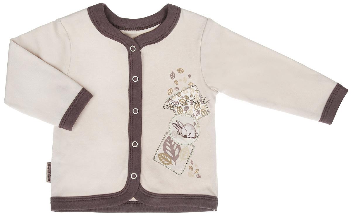 Распашонка01-0701Кофточка Linea Di Sette Зайка станет отличным дополнением к гардеробу вашего ребенка. Изделие изготовлено из высококачественного органического полотна в соответствии с принятыми стандартами. Органический хлопок - это безвредная альтернатива традиционному хлопку, ткани из него не вредят нежной коже малыша, а также их производство безопасно для окружающей среды. Органический хлопок очень мягкий, отлично пропускает воздух, обеспечивая максимальный комфорт. Кофточка с V-образным вырезом горловины и длинными рукавами застегивается спереди на кнопки по всей длине, что позволяет с легкостью переодеть ребенка. Модель оформлена принтом с изображением зайки,а также декорирована вышивкой. Кофточка полностью соответствует особенностям жизни ребенка в ранний период, не стесняя и не ограничивая его в движениях. В ней кроха всегда будет в центре внимания.